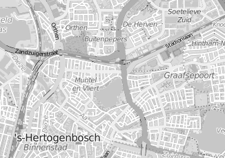 Kaartweergave van Albers in Den Bosch