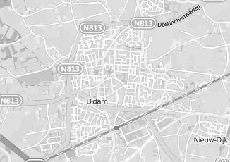 Kaartweergave van Derksen in Didam