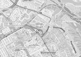 Kaartweergave van Overbeek in Diemen