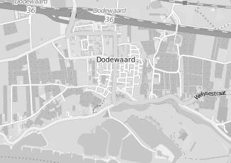 Kaartweergave van Dam in Dodewaard