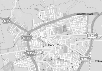 Kaartweergave van Roos in Dokkum