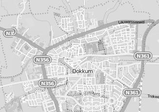 Kaartweergave van Damstra in Dokkum