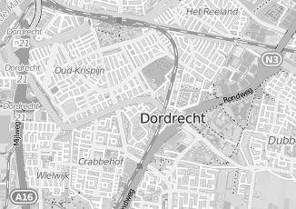 Kaartweergave van Groenendaal in Dordrecht