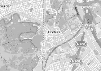 Kaartweergave van Milieustraat in Driehuis