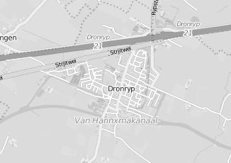 Kaartweergave van Tuinman in Dronryp
