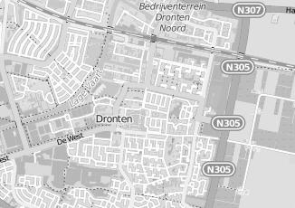 Kaartweergave van Bosch in Dronten