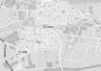 Kaartweergave van Hulst in Druten