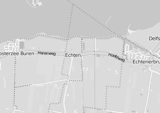 Kaartweergave van Hulzinga in Echten Friesland