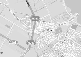 Kaartweergave van Rijswijk in Edam