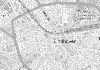 Kaartweergave van Bruijne in Eindhoven
