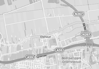 Kaartweergave van Bank in Elshout