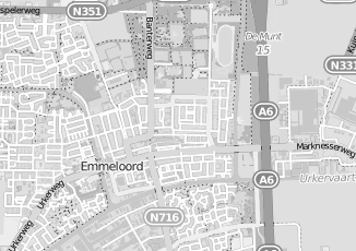 Kaartweergave van Oosting in Emmeloord