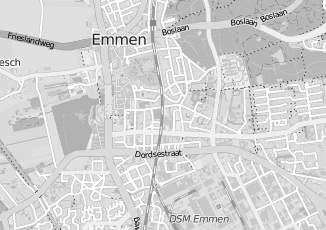 Kaartweergave van Dykstra in Emmen