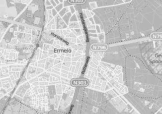 Kaartweergave van Bruining in Ermelo