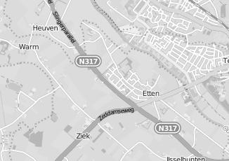 Kaartweergave van Timmermans in Etten