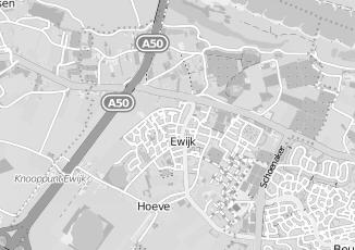 Kaartweergave van Albert heijn in Ewijk