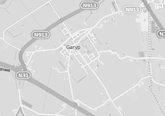 Kaartweergave van Internetdiensten in Garyp