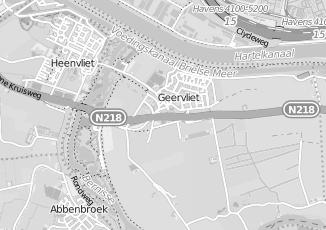 Kaartweergave van Poldervaart in Geervliet