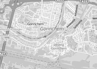 Kaartweergave van Huizinga in Gorinchem