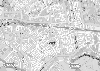Kaartweergave van Langerak in Gouda