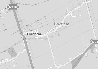 Kaartweergave van Blokland in Goudriaan