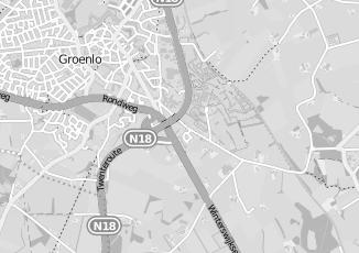 Kaartweergave van Oostendorp in Groenlo
