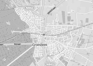 Kaartweergave van Hubers in Groesbeek