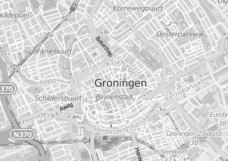 Kaartweergave van Brugge in Groningen