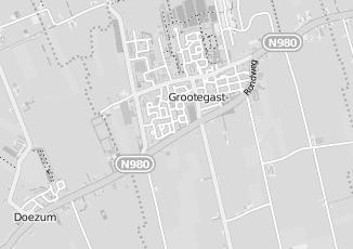 Kaartweergave van Hazenberg in Grootegast