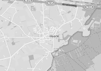 Kaartweergave van Albers in Haarle Gemeente Hellendoorn Overijssel