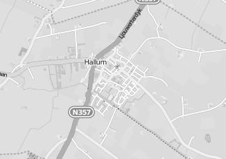 Kaartweergave van Internetdiensten in Hallum