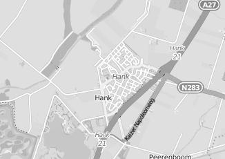 Kaartweergave van Bouwens in Hank