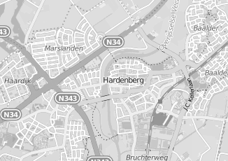 Kaartweergave van Meertens in Hardenberg