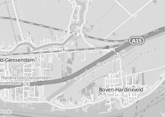 Kaartweergave van Adriaanse in Hardinxveld Giessendam