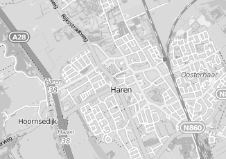 Kaartweergave van Noord in Haren Groningen