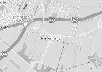Kaartweergave van Dijkhoff m in Haskerhorne