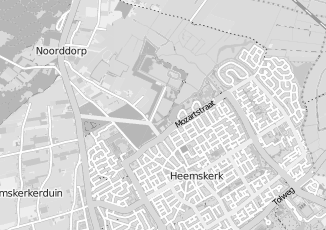 Kaartweergave van Roozendaal in Heemskerk