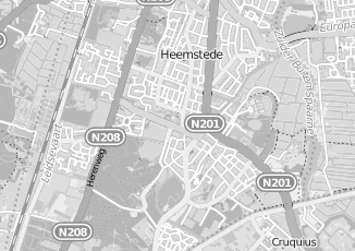 Kaartweergave van Bruijn in Heemstede