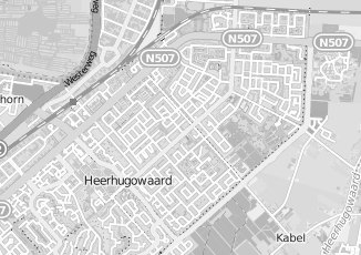 Kaartweergave van Hoogland in Heerhugowaard