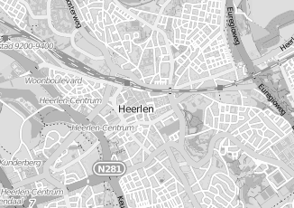 Kaartweergave van Huberts in Heerlen