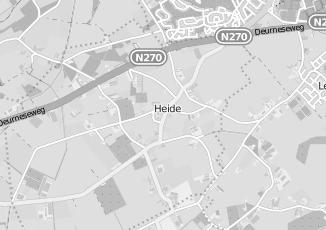 Kaartweergave van Albert heijn in Heide