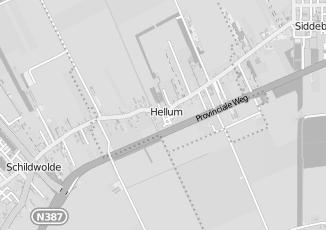 Kaartweergave van Albert heijn in Hellum