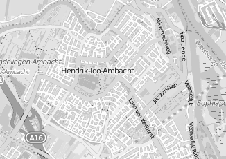 Kaartweergave van Oosterom in Hendrik Ido Ambacht