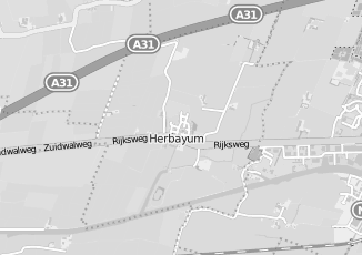 Kaartweergave van Albert heijn in Herbaijum
