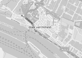 Kaartweergave van Ger .gem kerk in Hoek Van Holland