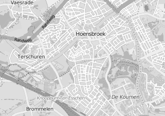 Kaartweergave van Huibers in Hoensbroek