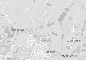 Kaartweergave van Dongen in Hoeven