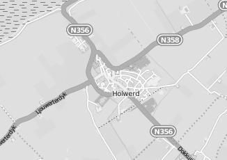 Kaartweergave van Boonstra in Holwerd