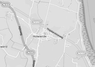 Kaartweergave van Oosting in Holwierde