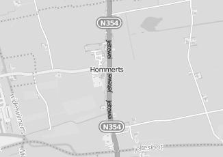 Kaartweergave van Bijlsma in Hommerts